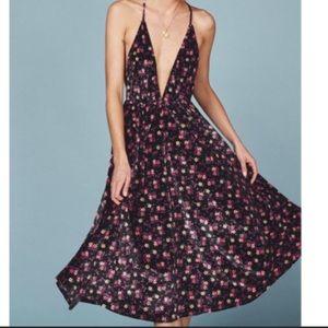 NWT Coppola Velvet Dress-Black Ditsy Floral Velvet